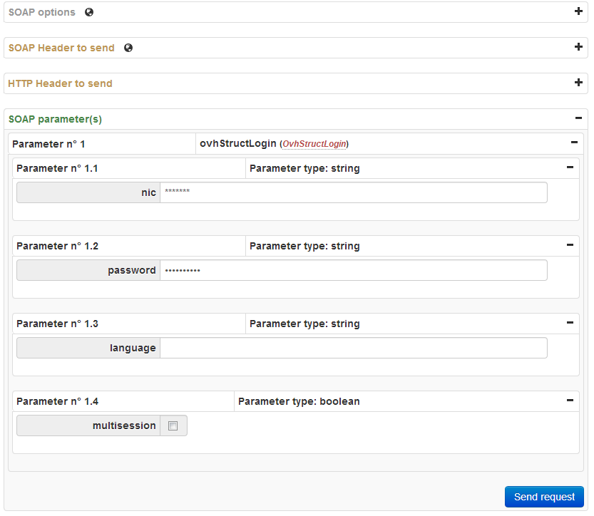 OVH SOAP API login operation web interface - WSDL to php